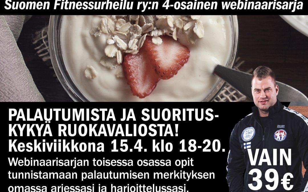 Palautumista ja suorituskykyä ravinnosta – webinaari ke 15.4.2020 klo 18.00-20.00