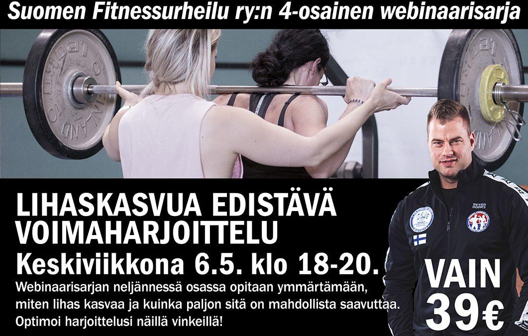 Lihaskasvua edistävä voimaharjoittelu -webinaari 6.5.2020 klo 18-20