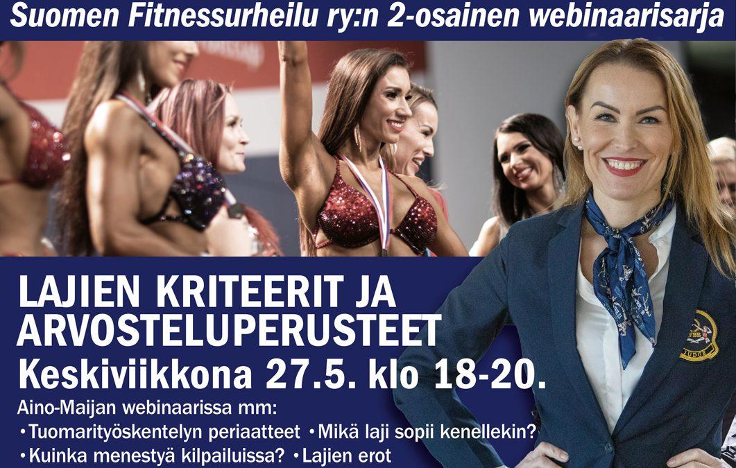 Fitnesslajien kriteerit ja arvosteluperusteet -webinaari ke 27.5 klo 18-20