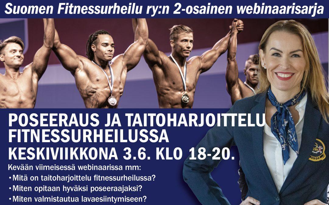 Poseeraus ja taitoharjoittelu fitnessurheilussa webinaari 3.6.2020 klo 18-20